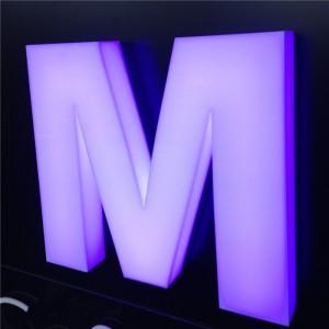 Объемные буквы - RGB подсветка